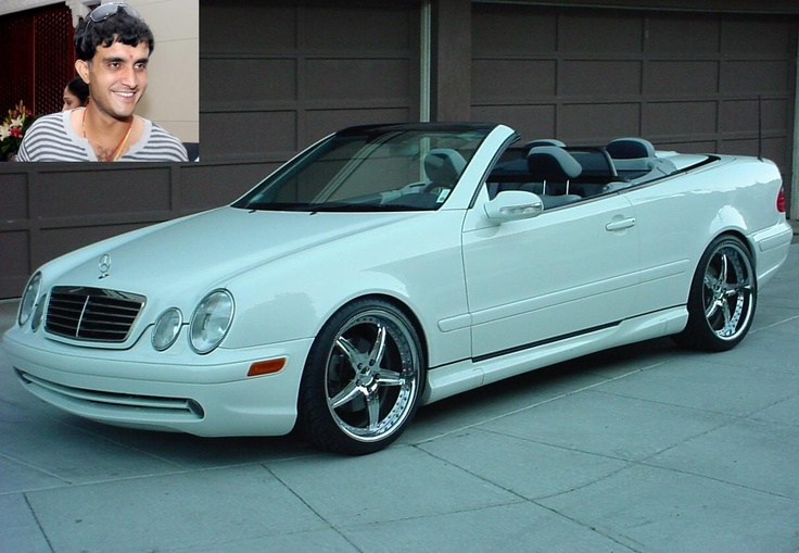 Sourav Ganguly- Mercedes Benz CLK convertible