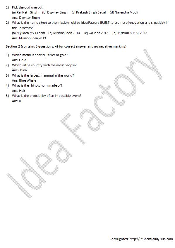 Idea Factory quiz