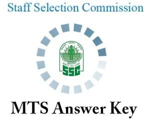 SSC MTS Key 2014