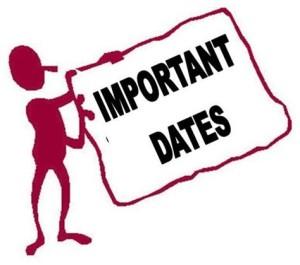 UPSC Important dates