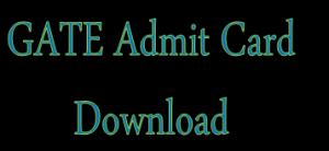 GATE 2015 Admit Card Download